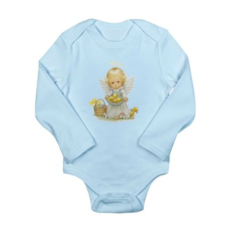 Easter Angel Long Sleeve Infant Bodysuit