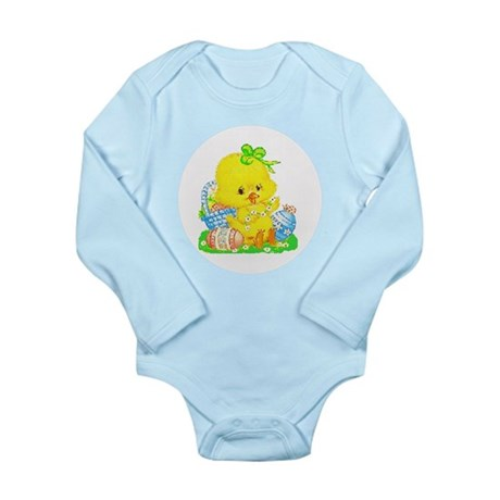 Easter Duckling Long Sleeve Infant Bodysuit