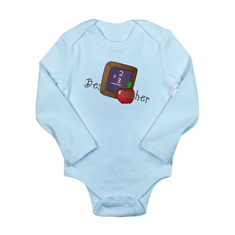 Best Teacher Long Sleeve Infant Bodysuit