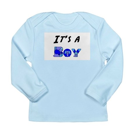 It's a BOY Long Sleeve Infant T-Shirt