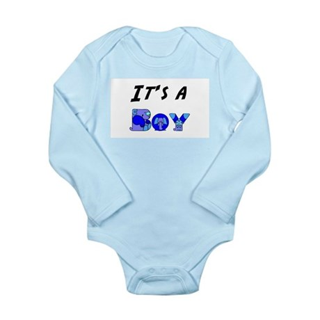 It's a BOY Long Sleeve Infant Bodysuit