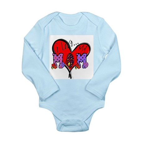 I Love My Mom Long Sleeve Infant Bodysuit