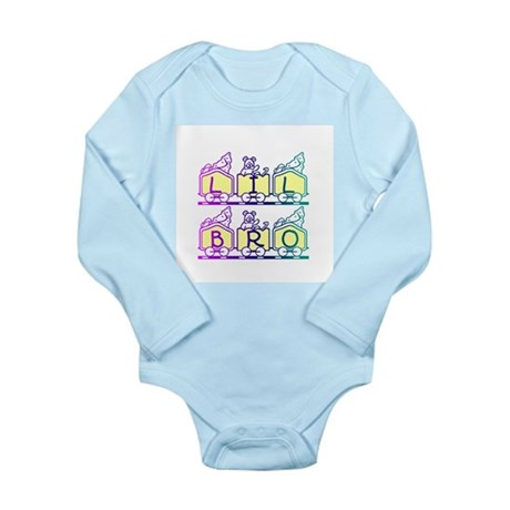Lil Bro Train Long Sleeve Infant Bodysuit