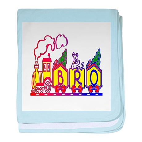 Bro Train baby blanket