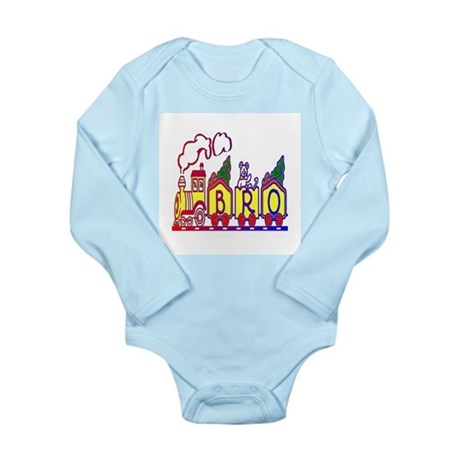 Bro Train Long Sleeve Infant Bodysuit