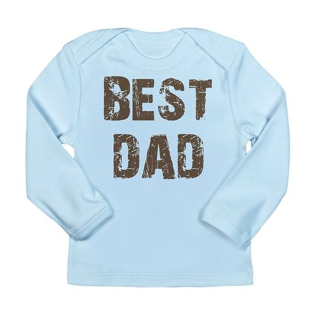 Best Dad Father's Day Brown Long Sleeve Infant T-S