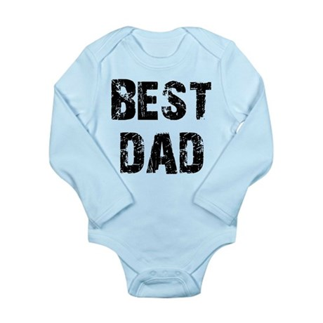 Father's Day Best Dad Long Sleeve Infant Bodysuit