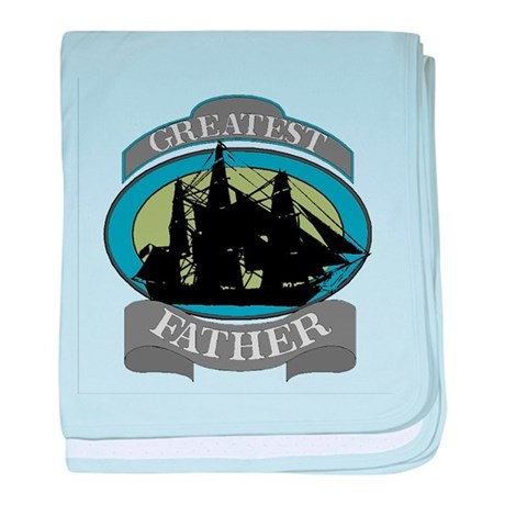 Greatest Father baby blanket