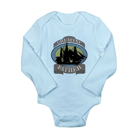 Greatest Father Long Sleeve Infant Bodysuit