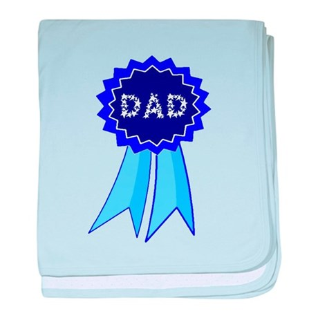 Dad's Blue Ribbon baby blanket