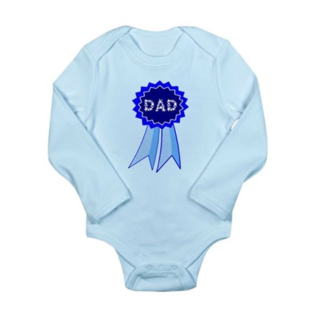 Dad's Blue Ribbon Long Sleeve Infant Bodysuit