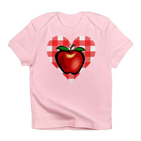 Checkered Tablecloth Apple He Infant T-Shirt