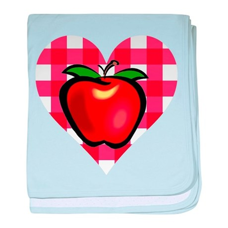 Checkered Tablecloth Apple He baby blanket