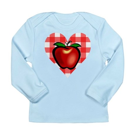 Checkered Tablecloth Apple He Long Sleeve Infant T
