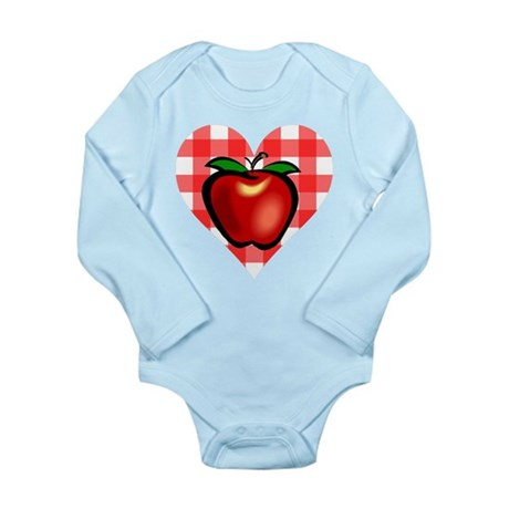 Checkered Tablecloth Apple He Long Sleeve Infant B