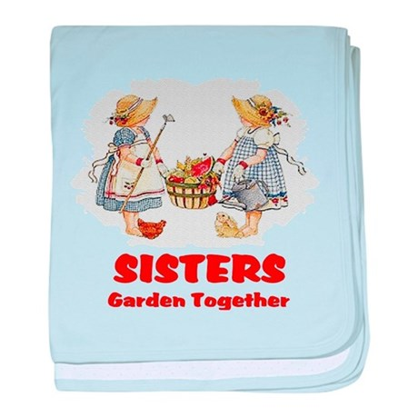 Sisters Garden Together baby blanket
