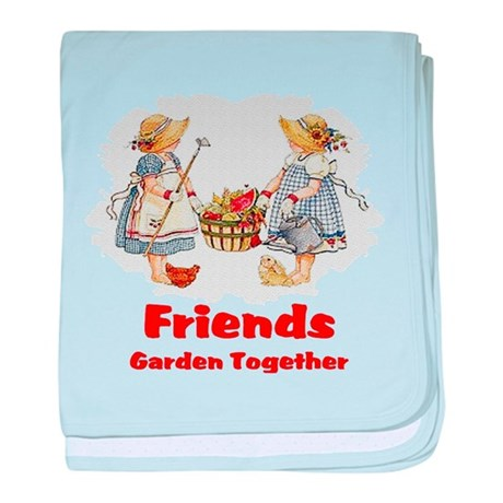 Friends Garden Together baby blanket