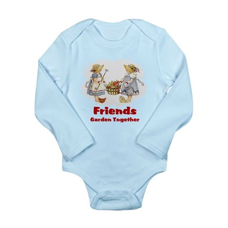 Friends Garden Together Long Sleeve Infant Bodysui