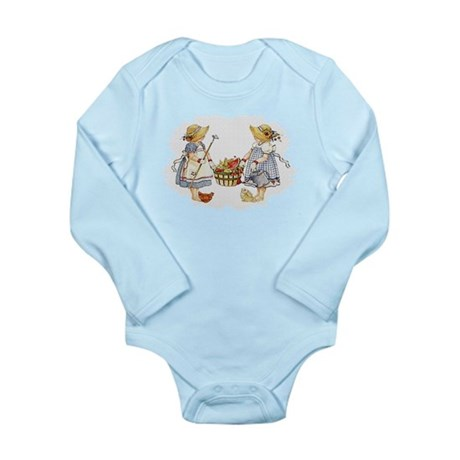 Girls Garden Long Sleeve Infant Bodysuit