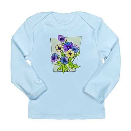 Pansy Long Sleeve Infant T-Shirt