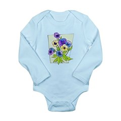 Pansy Long Sleeve Infant Bodysuit