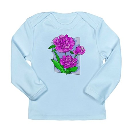 Pink Peonies Long Sleeve Infant T-Shirt