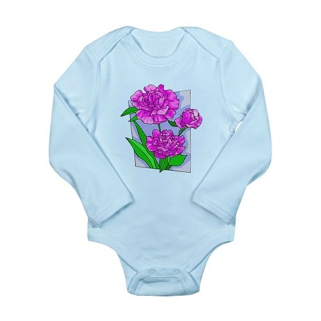 Pink Peonies Long Sleeve Infant Bodysuit