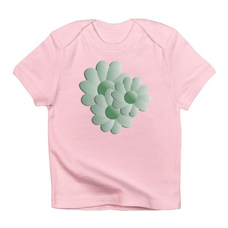 Pretty Daisy Trio - Green Infant T-Shirt