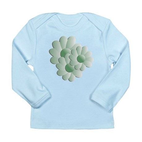 Pretty Daisy Trio - Green Long Sleeve Infant T-Shi
