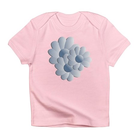 Pretty Daisy Trio - Blue Infant T-Shirt