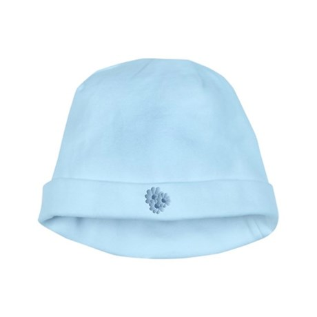 Pretty Daisy Trio - Blue baby hat