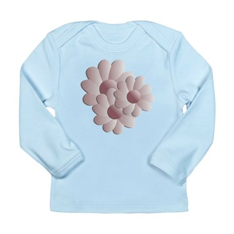 Pretty Daisy Trio - Pink Long Sleeve Infant T-Shir