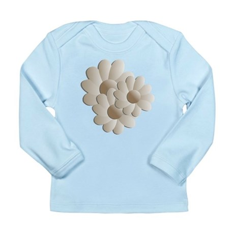 Daisy Trio - Sand Long Sleeve Infant T-Shirt