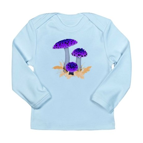 Purple Mushrooms Long Sleeve Infant T-Shirt