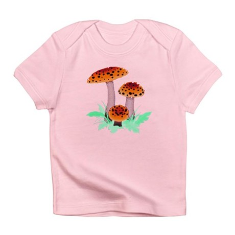 Orange Mushrooms Infant T-Shirt
