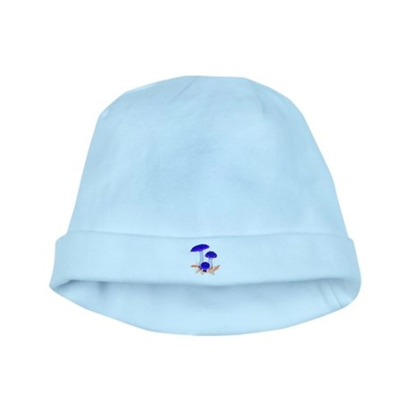 Blue Mushrooms baby hat