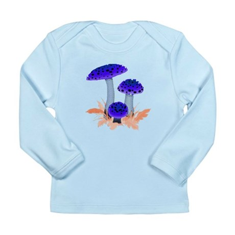 Blue Mushrooms Long Sleeve Infant T-Shirt