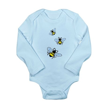 Bumble Bees Long Sleeve Infant Bodysuit