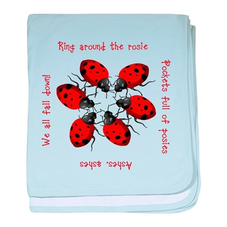 Ladybugs Playing baby blanket
