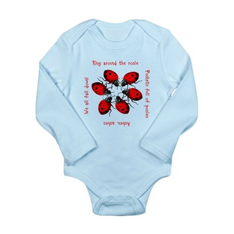Ladybugs Playing Long Sleeve Infant Bodysuit