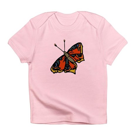 Orange Butterfly Infant T-Shirt