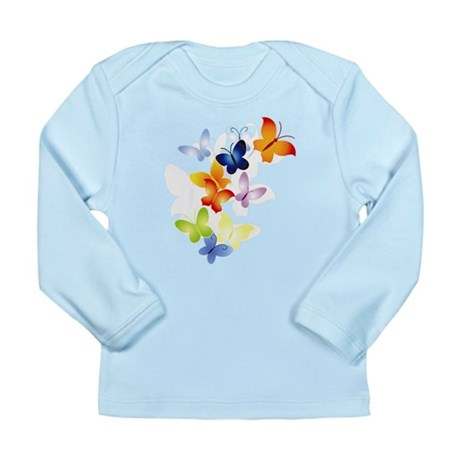 Butterfly Cluster Long Sleeve Infant T-Shirt