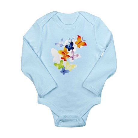 Butterfly Cluster Long Sleeve Infant Bodysuit
