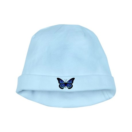 Blue Butterfly baby hat