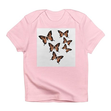 Orange Butterflies Infant T-Shirt