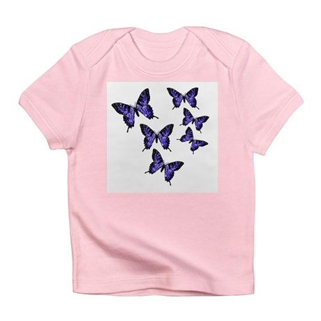 Purple Butterflies Infant T-Shirt