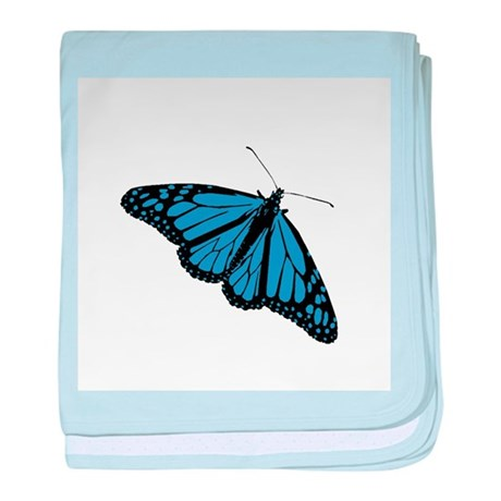 Blue Butterfly baby blanket