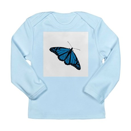 Blue Butterfly Long Sleeve Infant T-Shirt