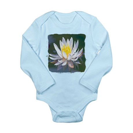 Lotus Blossom Long Sleeve Infant Bodysuit