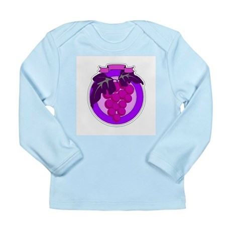 Purple Grapes Long Sleeve Infant T-Shirt
